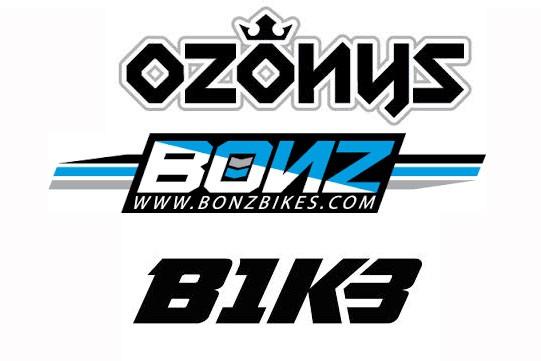 Пополнение склада рамам и запчастями Ozonys, Bonz, B1K3